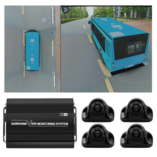 3D 1080P 360 Around view car camera system for bus
